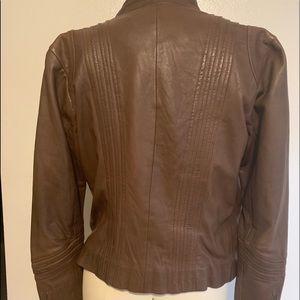 bagatelle Jackets & Coats - Bagatelle Women's Motorcycle Brown Leather Jacket